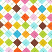 Summer Argyle </br>Puppy Belly Band CLEARANCE