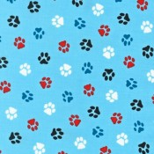 Color Paws on Blue  </br>Puppy Belly Band