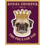 Dog Pug Royal Snorter 8x10 Art Print