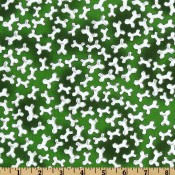 White Bones on Green </br>Puppy Belly Band CLEARANCE