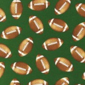 Footballs on Green Puppy Puddle Pad
