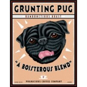 Dog Pug Grunting Pug Rambunctious Roast 8x10 Art Print