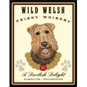 Dog Welsh Terrier Wild Welsh Frisky Whiskey 8x10 Art Print