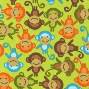 Monkeys! Green </br>Puppy Belly Band