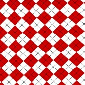 Red Argyle Puppy Puddle Pad