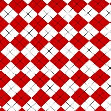 Argyle - Red and White Puppy Belly Band