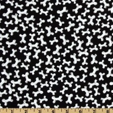 White Bones on Black Puppy Belly Band CLEARANCE