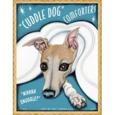 Dog Italian Greyhound Cuddle Dog Comforters 8x10 Art Print