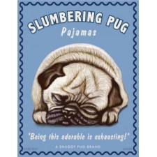 Dog Pug - Slumbering Pug 8x10 Art Print