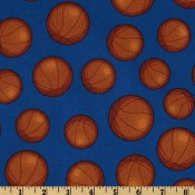 Basketballs on Navy Puppy Puddle Pad