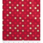 Holiday Red and Gold Dot </br>Puppy Belly Band