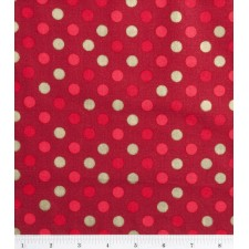 Holiday Red and Gold Dot Puppy Belly Band