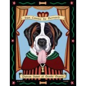 Dog St Bernard  8x10 Art Print
