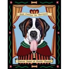 Dog St Bernard  8x10 Art Print