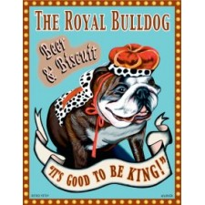 Dog Bulldog - The Royal Bulldog 8x10 Art Print
