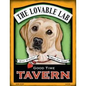 Dog Golden Lab - The Lovable Lab  8x10 Art Print