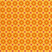 Tiny Tangerine Flowers Puppy Puddle Pad