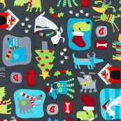 Holiday Cartoon Dog Puppy Puddle Pad