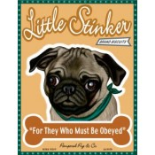 Dog Pug Little Stinker Brand Biscuits 8x10 Art Print