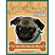 Dog Pug Little Stinker Brand Biscuits 8x10 Art Print