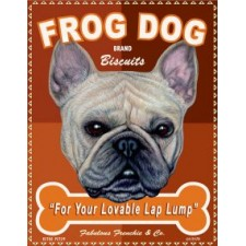 Dog French Bulldog - Frog Dog Brand Biscuits 8x10 Art Print
