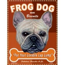 Dog French Bulldog - Frog Dog Brand Biscuits 8x10 Art Print