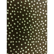 Multi-size White Polk-a-dot on Brown Puppy Belly Band