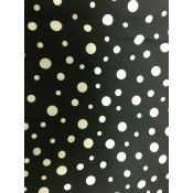 Multi-size White Polk-a-dot on Black </br>Puppy Belly Band