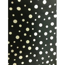 Multi-size White Polk-a-dot on Black Puppy Belly Band