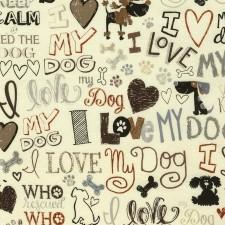 I Love My Dog Tan & Cream Puppy Belly Band