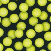 Tennis Balls on Black Puppy Puddle Pad