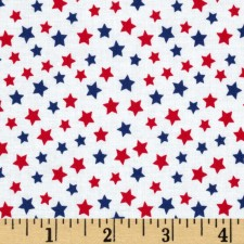 Red and Blue Stars Puppy Belly Band