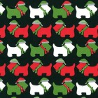Holiday  Dogs in Scarves Christmas Puppy Belly Band