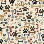 Bones and Paw on Cream </br>Puppy Belly Band