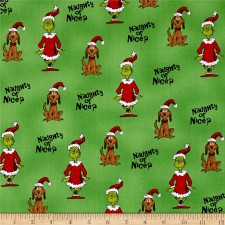 Holiday Grinch Naughty or Nice Green Puppy Belly Band