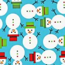 Holiday Snowmen Blue Puppy Belly Band