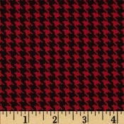 Houndstooth Black and Red Puppy Belly Band