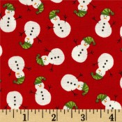Holiday Snowmen Red </br>Puppy Belly Band