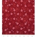 Red Heart and Swirls Puppy Belly Band CLEARANCE