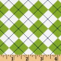 Argyle - Lime White Blue Puppy Belly Band