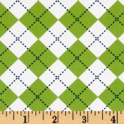Argyle - Lime White Blue </br>Puppy Belly Band
