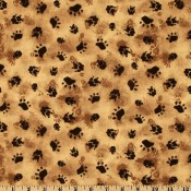 Black and Brown Paws  </br>Puppy Belly Band CLEARANCE