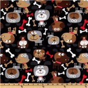 Fido Dog on Black </br>Puppy Belly Band CLEARANCE