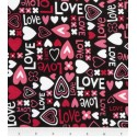 Love and Hearts Puppy Belly Band CLEARANCE
