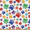 Rainbow Paw Prints Puppy Belly Band CLEARANCE
