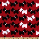 Scottie Dogs Red Puppy Belly Band