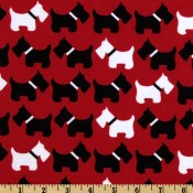 Scottie Dogs Red </br>Puppy Belly Band