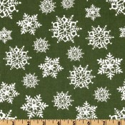Snowflakes Green </br>Puppy Belly Band CLEARANCE