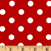 White Polk-a-dot on Red </br>Puppy Belly Band