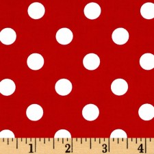 White Polk-a-dot on Red Puppy Belly Band